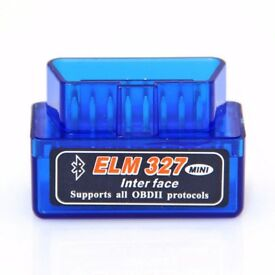 ELM327 Car OBD2 OBDII Bluetooth Fault Code Removal Scanner (Blue)