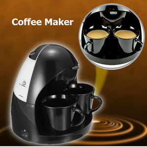 220V Coffee Tea Electric Machine Espresso Maker Fully Automatic 2 Cups Brewer
