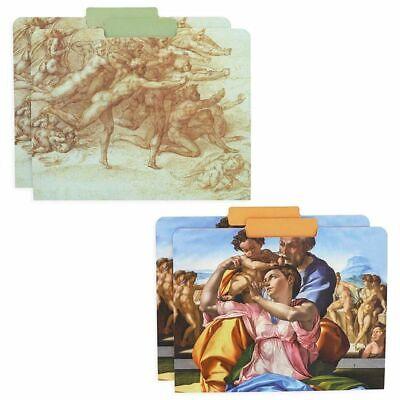 12pcs Michelangelo Decorative File Folder Letter Size 13 Cut Manilla Organizer