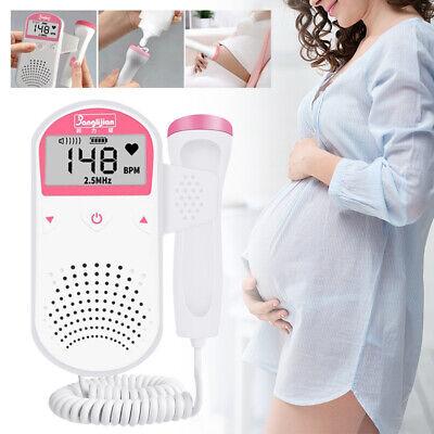 2.5mhz Prenatal Baby Fetal Heart Monitor Heart Rate Detector Digital Us