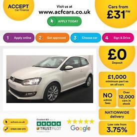 Volkswagen Polo 1.2 TSI ( 105ps ) 2012MY SEL FROM £31 PER WEEK.