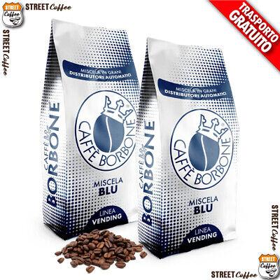 6 kg 6 Buste Caffè Borbone Grani Miscela Blu Vending Originale in Chicchi *