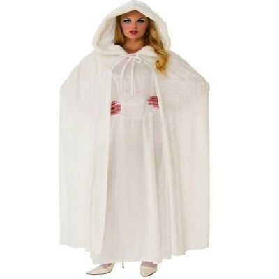 White Hooded Cape (Wintry White Hooded Adult)