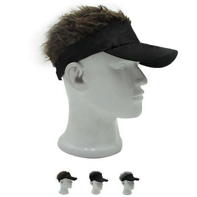 Funny Men Adjustable Flair Hair Visor Casquette Hat Golf Fashion Wig Cap ^](Funny Hair Hats)