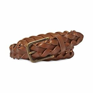 fossil tom new mens leather braided belt brown 42 105