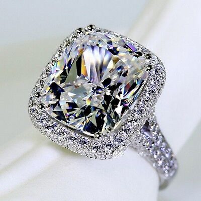 Handmade Women 10ct White sapphire Cz 14KT White Gold Filled Wedding Band (14kt Gold Handmade Ring)