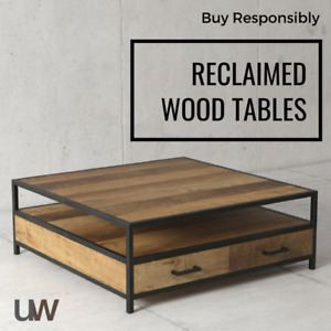 Reclaimed Wood - Solid Core Coffee Tables