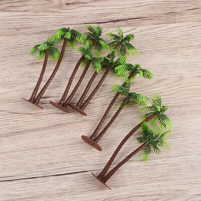 Mini Plastic Coconut Palm Tree Plant Bonsai Craft Micro Landscape Aquarium Decor - Plastic Palm Tree Decorations