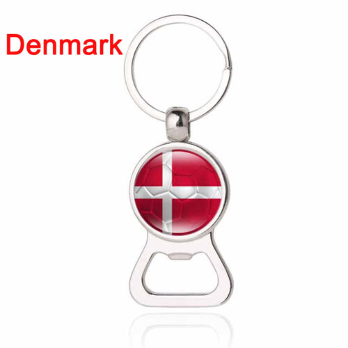 Fashion Bottle Cap Opener 2018 World Cup Football Pendant Keyring Car Key Keychain 100% Guarantee Plush Keychains