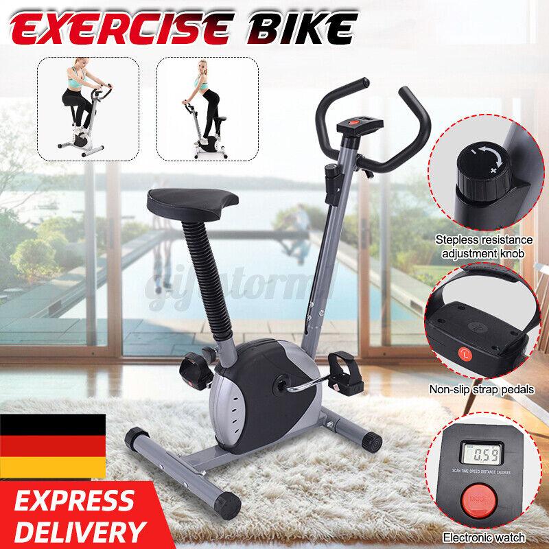 LED Heimtrainer Gym bike Fitnessbike Fitnessfahrrad Trimmrad hometrainer Fitness