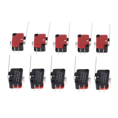 10pcs V-153-1c25 Limit Switches Long Straight Hinge Lever Type Spdt Micro Switch