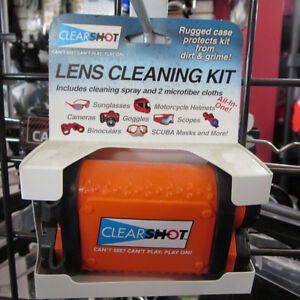 CLEAR SHOT Lens Cleaning Kit Helmet Visors Motorcycle Snowmobile