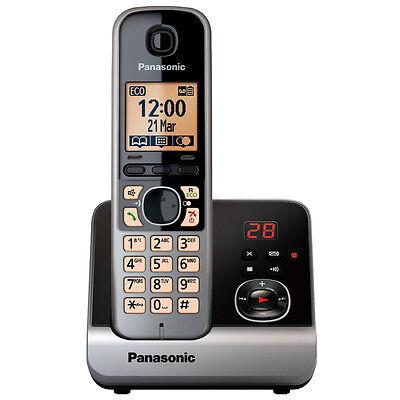 Panasonic KX-TG6721GB schwarz Schnurlostelefon 1,8 Zoll Display Anrufbeantworter