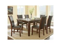 Adalyn Home Marble Top Dining Table + 6 Chairs used nice