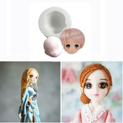 - Silicone Girl Princess Face Fondant Cake Decor Mold Tools Chocolate Mould HO3