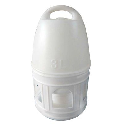 Removeble White Plastic Drinker With Handle For Pigeons Bird Supplies 29Cm S9N4