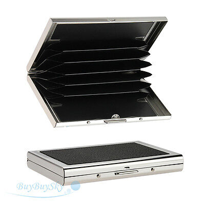 Mini Waterproof Aluminum Business ID Credit Card Wallet Holder Pocket Case Box