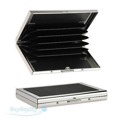 Mini Waterproof Aluminum Business ID Credit Card Wallet Holder Pocket Case Box