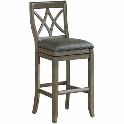 "American Heritage Hadley 34"" Swivel Extra Tall Bar Stool in"
