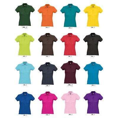 Neue Damen Polo (Damen Polo Shirt Kurzarm Piqué klassisch Seitenschlitze S-XXL von SOL´S L513 NEU)