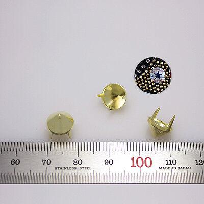 "500pcs Cone studs Diameter 3/8""(9mm) DIY Rock Punk stuffs gold converse reform"