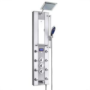 KV&V - Thermostatic LED Display Shower Panel Tower Column System