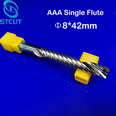 2pc Aaa 842mm Tungsten Carbide Single Flute Milling Cutter Cnc Wood Router Bits