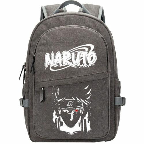 Naruto Uzumaki Chakra Kurama Mode Kakashi Backpack Canvas Bag Travel Rucksack