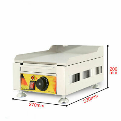 Commercial Electric Fried Flat Cook Griddle Grill Iron Machine Furnace 110v Us