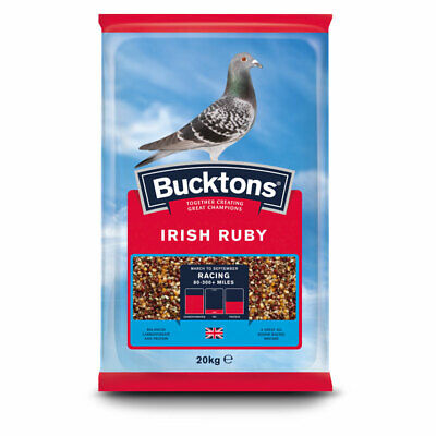 Bucktons Irish Ruby Pigeon Feed - Seed Mix for Racing Pigeons - Added Fat - 20kg