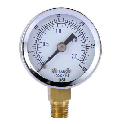 Hydraulic Liquid Filled Pressure Gauge 030 Psi For Air Compressor Water Oil Gas