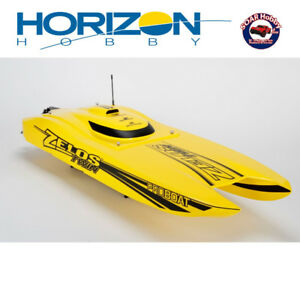 "Soar Hobby has Zelos 36"" Twin Brushless Catamaran RTR by Horizon"