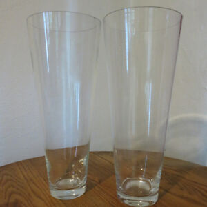 Two Large Floor Vases Clear Glass 20 Inches Tall Kitchener / Waterloo Kitchener Area image 1