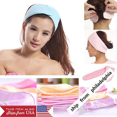 Womens Adjustable Elastic Headband Wash Face Makeup SPA Stretch Soft Hair Band