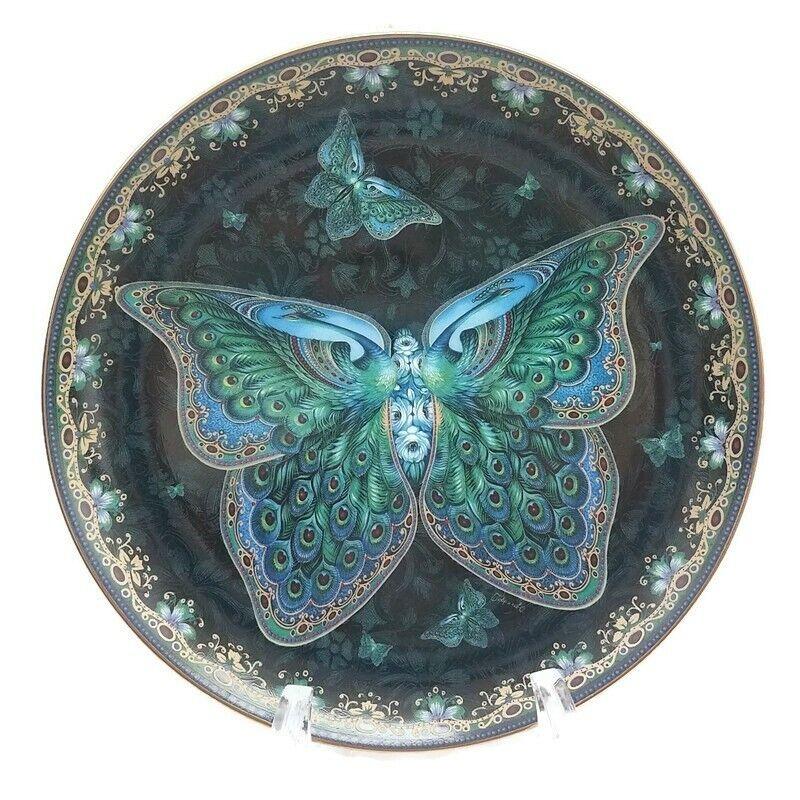 Bradford Exchange Enchanted Wings Butterfly #1 Emerald Oleg Gavrilov 1998 C14