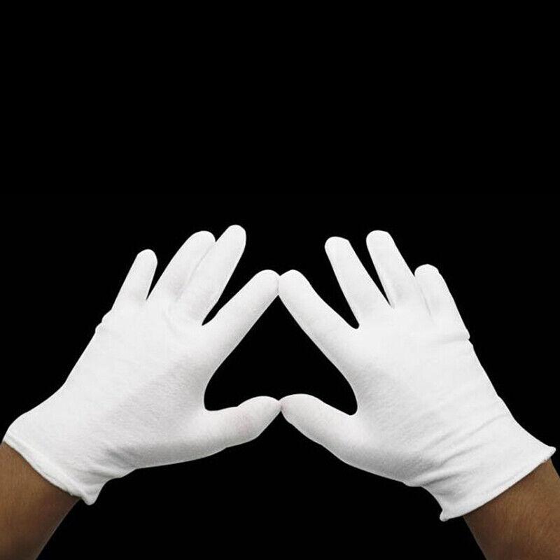 Lightweight White Inspection Cotton Work High Stretch Gloves