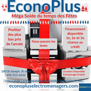 ECONOPLUS LIQUIDATION CUISINIERES A PARTIR DE 249.99$ TX INCL