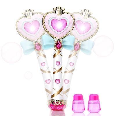 Magic Wand Stick Bubble Blower Maker Bubble Machine Liquid Girl Xmas Gifts Toys (Bubble Machine Liquid)
