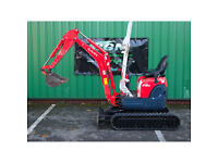 Kubota U10-3 Mini Digger with 2 Buckets (New tracks fitted)
