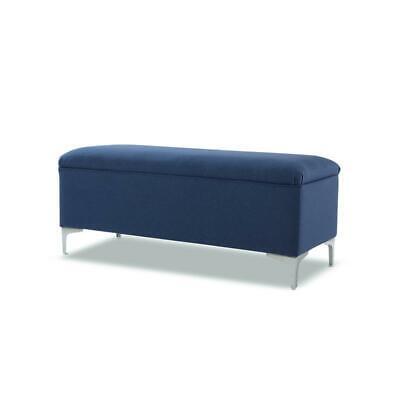 madelyn storage bench dark sapphire blue