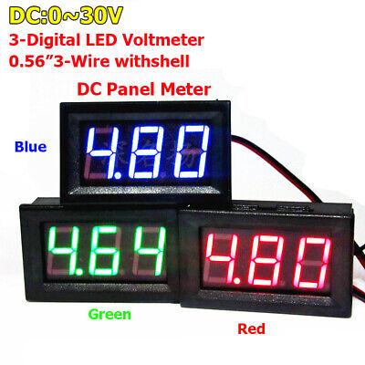 3 Digital Led Display Voltmeter Dc 0-30v Volt Voltage Meter 12v30v Car Battery