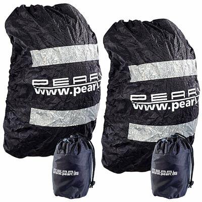 Regenschutz Rucksack: 2er-Set Regenhüllen für Rucksäcke bis 40 Liter
