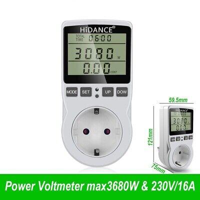 230v Ac Power Digital Watt Meter Eu Energy Watt Monitor Electricity Cost Diagram
