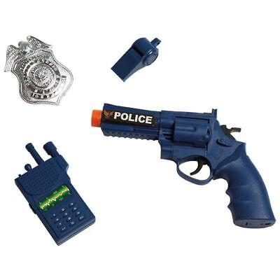 IAL 64114 Polizei Set  Police Spielzeug Pistole Abzeichen Pfeife Walkie- Talkie  ()