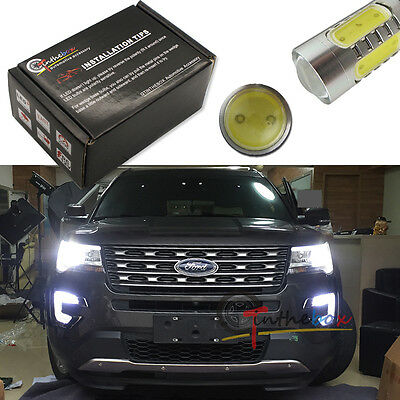 (2) High Power Xenon White COB LED Fog Light Bulbs For 2016-up Ford Explorer