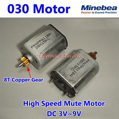Dc 3v 6v 9v 14000rpm High Speed Minebea 030 Motor Mini Dc Motor With Copper Gear