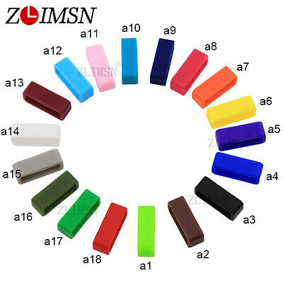 4pcs Lot 14-26mm Watchbands Strap Hoop Loop Rubber Watch Band Accessories Holder