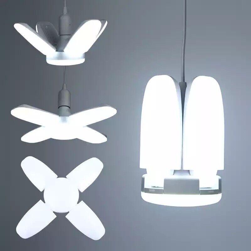 E27  Deformable LED Garage Light  Ceiling Fixture Lights Shop Workshop Lamp Chandeliers & Ceiling Fixtures