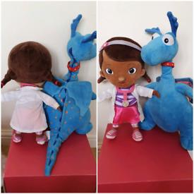 "Disney Doc McStuffin & Blue Talking Dragon plush soft toy 13"" Disney s"