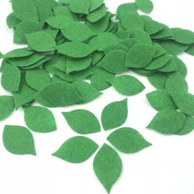Felt Leaves (200X Green Leaves Felt Card making decoration Applique Sewing clothing)